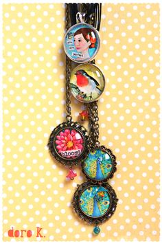 necklaces with my paintings;