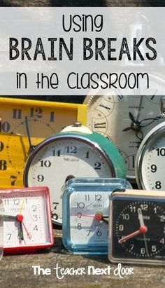 Read about how I use Brain Breaks to help my students re-focus and more! Brain Breaks reduce behavior problems, relieve stress, and lead to increased student performance in the classroom!