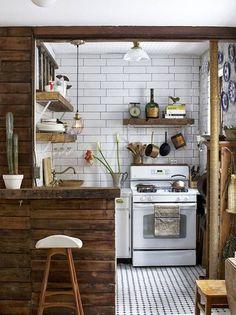 Resultado de imagem para cozinha retro rustica