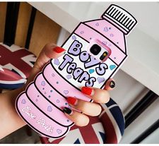 Cute 3D Cartoon Soft Silicone Rubber Case Cover Skin For Samsung Note s6 s7 edge