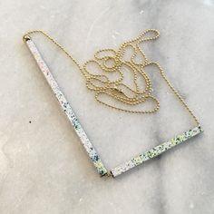 Confetti & Fireworks // new jewelry series available soon. #houseofthol #driftwood #jewelry #brass #enamel