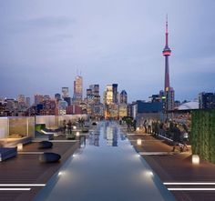 The amazing view from the Thompson Hotel in Toronto