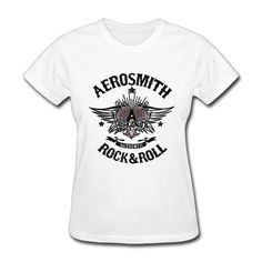 Aerosmith Walk This Way T-shirts for Women Harajuku Funny Product Tops Lady Casual Short Sleeve T-Shirt Tops free shipping #Affiliate