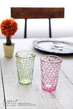 イロアミショットグラス(YB)/作家「吉村桂子」/和食器通販セレクトショップ「flatto」
