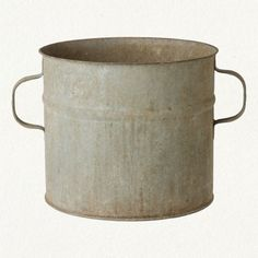 I like the handles on the side of this vintage bucket.                     ****