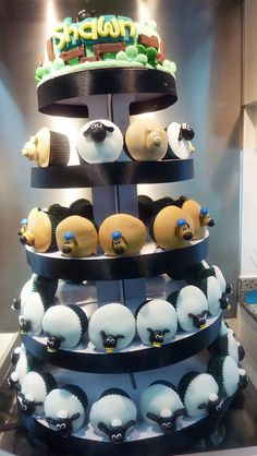 shaun the sheep cupcake tower | Flickr - Photo Sharing!