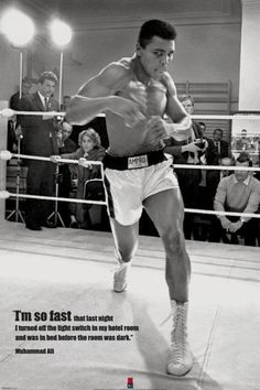 Muhammad Ali - Fast - Official Poster More Islamic Quotes: http://greatislamicquotes.com/ramadan-quotes-greetings-wishes/