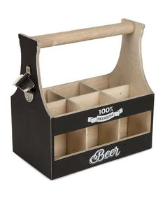 Look what I found on #zulily! Wood Beer Bottle Tote #zulilyfinds