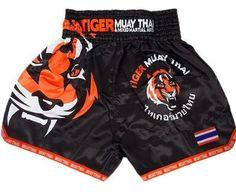 SHORTS MUAY THAI FAIRTEX KICK BOXING GENUINE MMA LEOPARD TIGER M SATIN SLIM CUT
