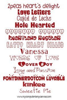 14 Must Have Valentine Fonts!