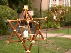 How to Make Star Twig Candle Frames : Decorating : Home & Garden Television