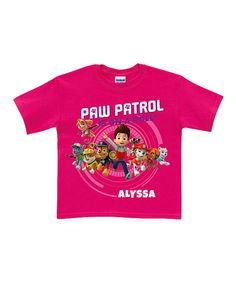 Another great find on #zulily! Hot Pink PAW Patrol Personalized Tee - Toddler & Girls by PAW Patrol #zulilyfinds