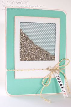 Glitter Shaker Card - #SU Stamping with Susan