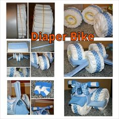 Steps to build a diaper motorcycle! <3