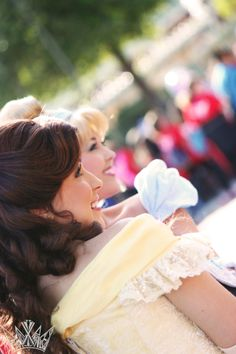Belle and Cinderella pose well together