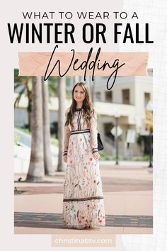 Ideas for a fall or winter wedding. Wedding guest dress ideas #weddingseason