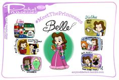 Pocket Princesses 152: Meet Belle Please reblog, do not repost or remove credits Facebook page
