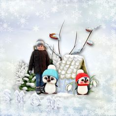 """Sweet-Chick Scrap and Co My page with """"First Snow"""" by Bee Création"""