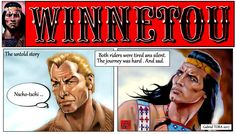 Winnetou Pierre Brice Lex Barker fan art 2017 comics by Gabriel Tora
