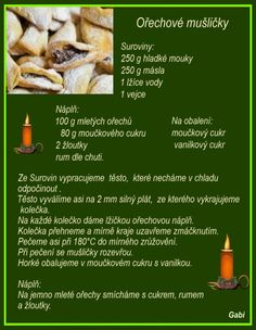 Czech Recipes, Christmas Baking, Baking Recipes, Food And Drink, Sweets, Beef, Cookies, Chicken, Cake