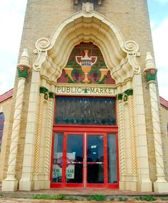Fort Worth Public Market Building: Our Palace of Produce Across The Border, Fort Worth, Palace, Public, Post Card, Marketing, Building, Buildings, Palaces