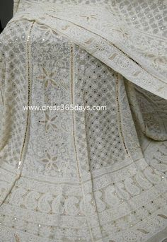 Pure Georgette Lucknowi Lehenga with Heavy Mukaish/Kamdani