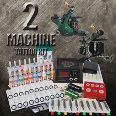 2 Cast Iron Machine Tattoo Kits