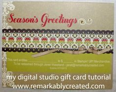 My Digital Studio Monday – Create Your Own Gift Certificates or gift vouchers Tutorial