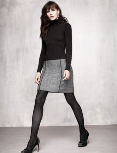 416553e5629f20 love the patterned stockings with the houndstooth skirt. Misty Martin · My White  House/ Black Market
