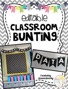 Editable Classroom Bunting