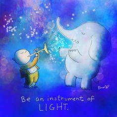 ♡ be an instrument of light ♡