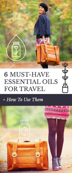 6 must-have essential oils for travel and how to use them. Which essential oils are the most versatile and important to have in your suitcase and carry case on a trip to hot OR cold climates.