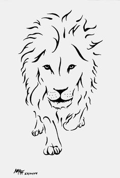 Lion stylisé / Malf 2014 - Penciling, Inking and Sketching - Lion Drawing, Leo Tattoos, Sketches, Animal Drawings, Art Tattoo, Lion Stencil, Stylized, Art, Lion Tattoo Design