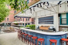 Champagne Charlie's: Transport yourself to Paris on the spacious, leafy patio at the High Line Hotel in Chelsea. A crisp bottle of Provence-style Mas De La Dame rosé is best shared under the umbrellas along the benches. Don't miss pairing your wine with a dozen oysters, a light scallop crudo, and a plate of crispy French fries. Champagne Charlie's, 180 Tenth Avenue (between West 20th and 21st streets); 212-929-3888.