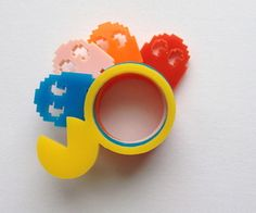 Kitsch set of 5 gamer themed rings, you get Pacman, Inky, Blinky, Pinky and of course Clyde :)