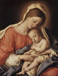 Salvi Giovanni Battista , Madonna con Bambino dormiente - insieme