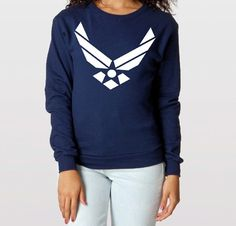 Womans Love and War USAF Air Force oversized by LoveandWarclothing, $39.99