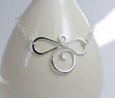 Sterling Silver Infinite Chain Bracelet by Oogle on Etsy