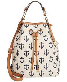 Tommy Hilfiger Monogram Allover Anchor Canvas Drawstring - Tommy Hilfiger - Handbags & Accessories - Macy's