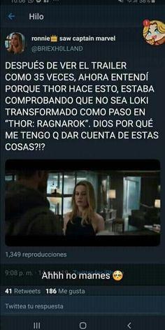 Mundo Marvel, Marvel 3, Disney Marvel, Marvel Funny, Superfamily Avengers, Loki Avengers, Thor, Marvel Quotes, Marvel Memes