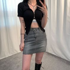 Korea Fashion, Kpop Fashion, Asian Fashion, Aesthetic Fashion, Aesthetic Clothes, Girls Fashion Clothes, Fashion Outfits, Outfit Creator, Minimal Outfit