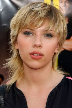 Scarlett Johansson with a mullet - 2003