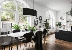 Dit appartement bewijst dat stylish zwart-wit portretten altijd een goed idee zijn