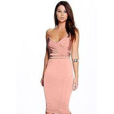 Silky Wrap Dress