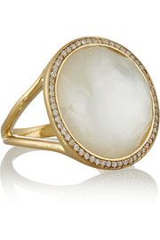 IppolitaRock Candy Lollipop 18-karat gold, mother-of-pearl and diamond ring