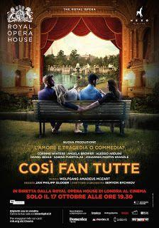 """Claudia Grohovaz: """"Così fan tutte"""" della Royal Opera House al cinema..."""