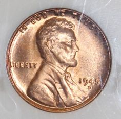 Accurately Graded 1945 D NGC MS 67 Red Lincoln Wheat Cent . Very strong strike with razor sharp wheat lines. Pleasing red color. Superior luster and great eye appeal.. All of our coins are chosen for