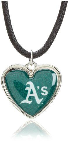 Oakland Athletics Heart Necklaces