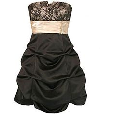 Jump Apparel - Women's Black/ Nude Party Dress