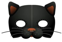 Маски котов из бумаги на голову   Котеко